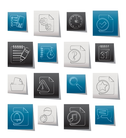 Organizer, communication and connection icons Vector