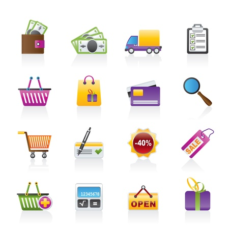 Shopping and website icons Stock Vector - 11883849