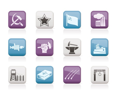 Communism, socialism and revolution icons  Vector