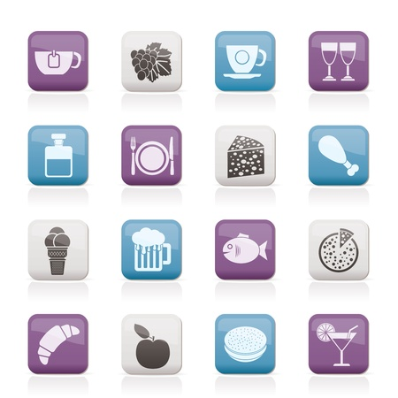 Food, Drink and beverage icons Vector