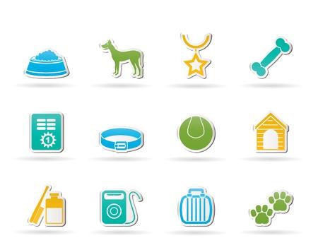 hygi�ne alimentaire: accessoires pour chiens et symboles ic�nes