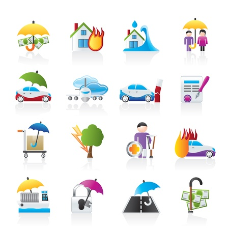 risk icons Stock Vector - 11904428