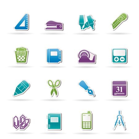 staplers: Business and office objects icons Illustration