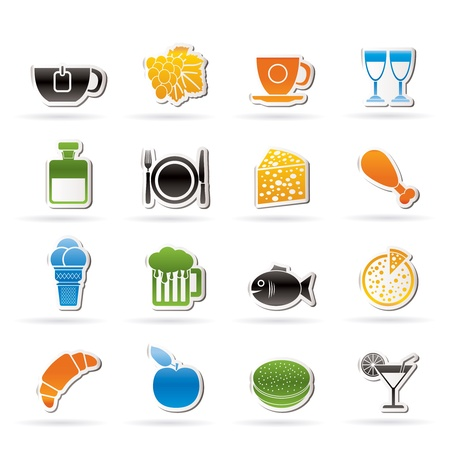 Food, Drink and beverage icons Stock Vector - 12006978
