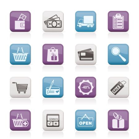 Shopping and website icons  Stock Vector - 12006980