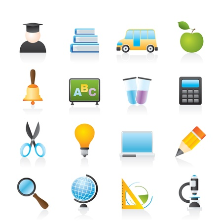education and school icons Stock Vector - 12006976