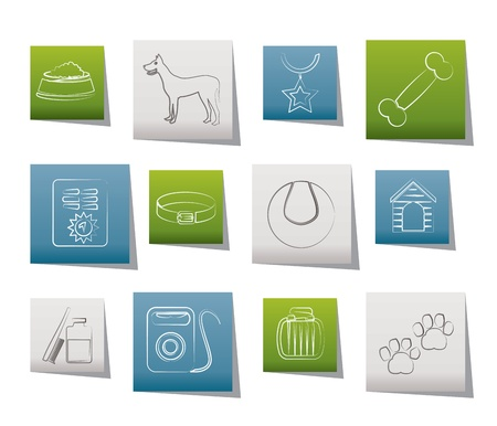 dog accessory and symbols icons - icon set Vector