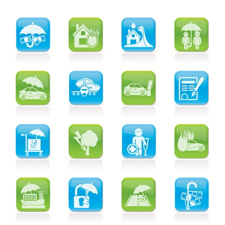 risk icons - icon set Stock Vector - 12200590