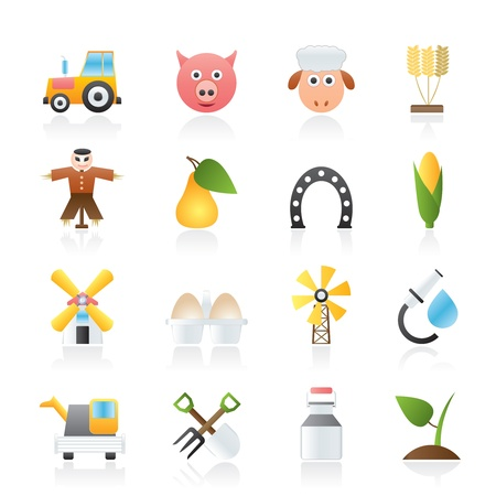 Agriculture and farming icons - icon set Vector