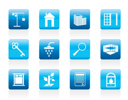 Simple Real Estate icons - Icon Set Vector