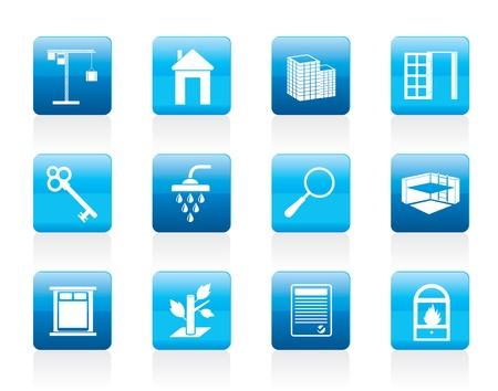 garden key: Simple Real Estate icons - Icon Set