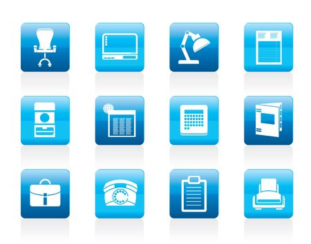 Simple Business, office and firm icons - icon set Stock Vector - 12200598