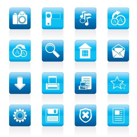 preview: Simple Internet and Website Icons - Icon Set Illustration