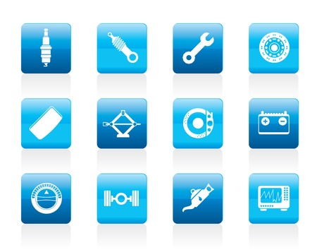 Realistic Car Parts and Services icons - Icon Set 1 Stock Vector - 12200595