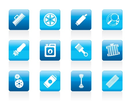 Realistic Car Parts and Services icons - Icon Set 2 Stock Vector - 12200594
