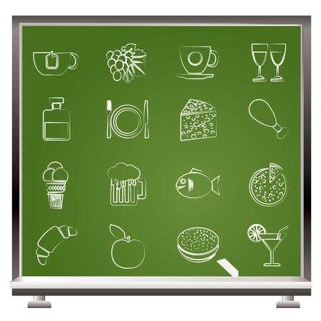 food and drink industry: Icone Cibo, bevande e bevande - set di icone