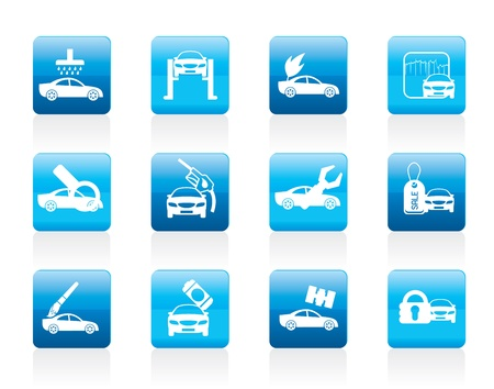 car security: car and automobile service icon - icon set