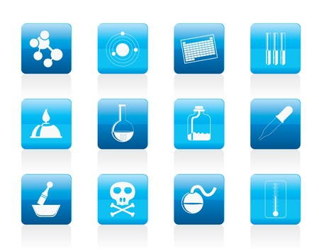 Chemistry industry icons - icon set Vector