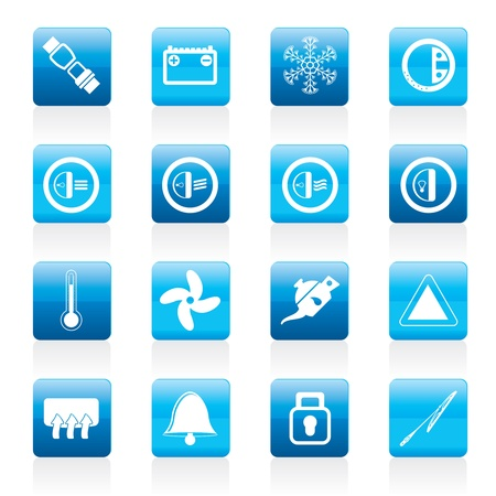 Car Dashboard icons -   icons set Vector
