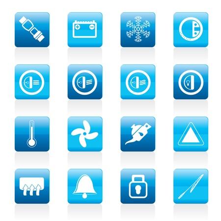 conditioning: Iconos de salpicadero - establecer los iconos