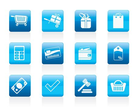 Online shop icons - icon set Stock Vector - 12200638