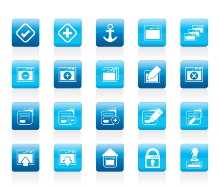 Application, Programming, Server and computer icons Icon Set 1 Vector