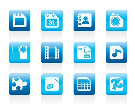 Mobile Phone, Computer and Internet Icons - Icon Set Vector