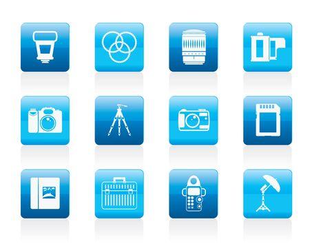 polarize: Photography equipment icons - icon set