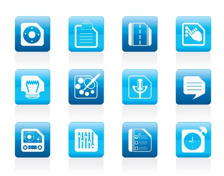 Mobile Phone, Computer and Internet Icons - Icon Set 3 Vector