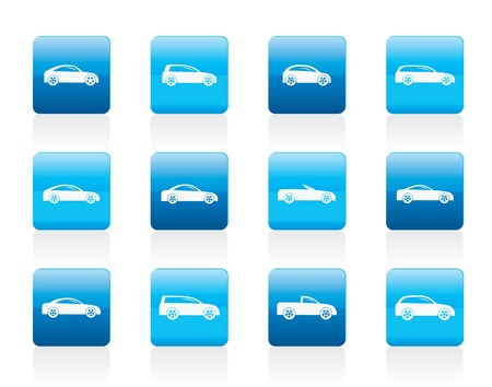 cabrio: different types of cars icons - icon set Illustration