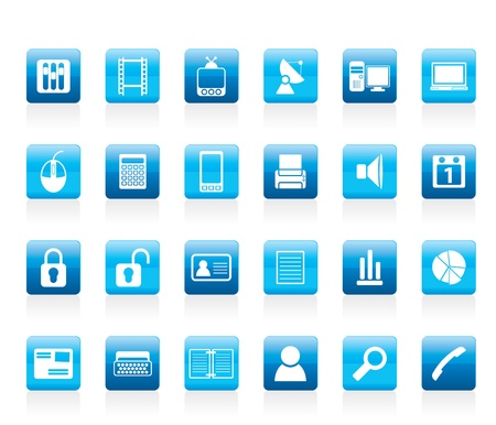 mouse pad: Business and office icons - icon set Illustration