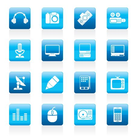 Media equipment icons - icon set Vector