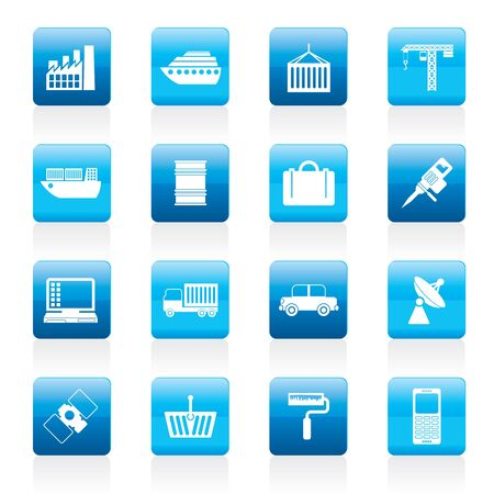 Industry and Business icons - icon set Vector