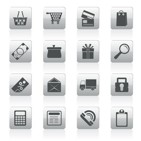 accept icon: Online shop icons - icon set Illustration