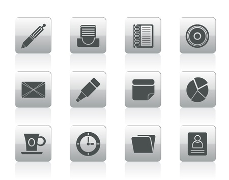 Office &amp, Business Icons - icon Set  Vector
