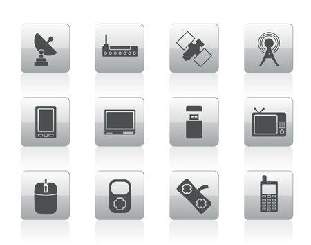 microwave antenna: la tecnolog�a y las Comunicaciones - iconos conjunto de iconos