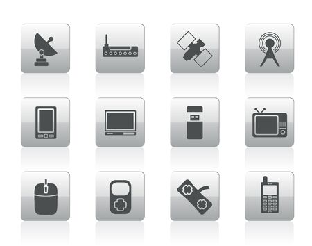 technology and Communications icons - icon set Vector