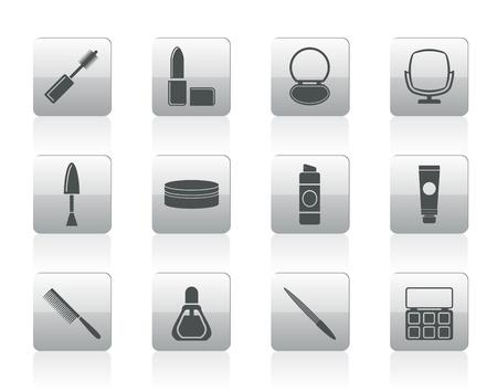 hairspray: cosm�tica y maquillaje iconos - conjunto de iconos Vectores