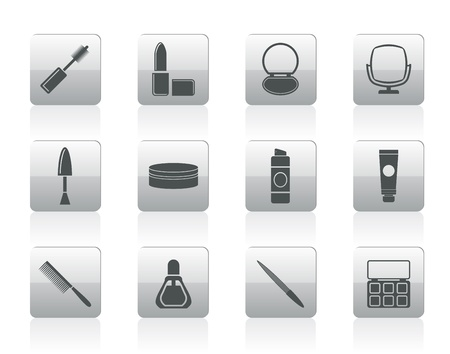 hairspray: cosmetic and make up icons -  icon set  Illustration