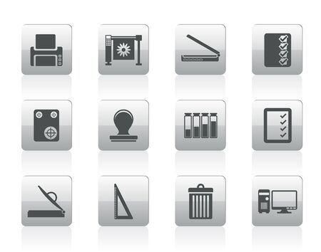 guillotine: Print industry Icons - icon set Illustration