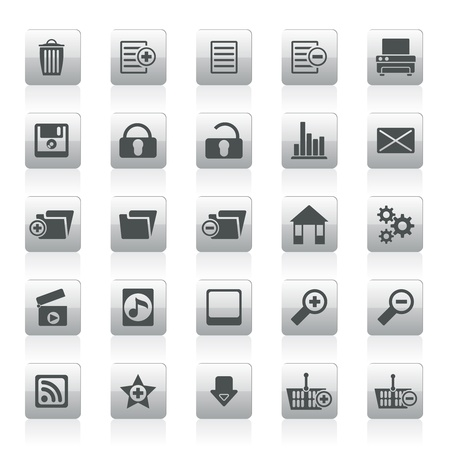 25 Detailed Internet Icons - Vector Icon Set Vector