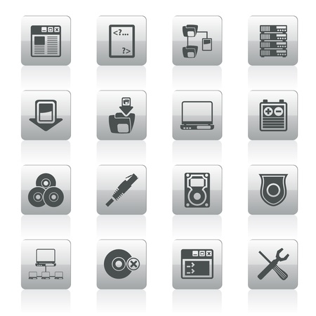 Server Side Computer icons - Icon Set Vector