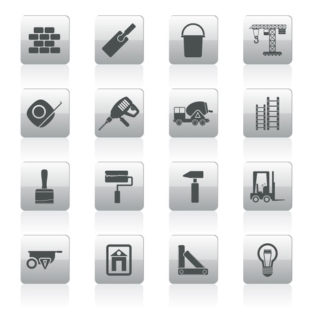 Construction and Building icons - Icon Set Vector