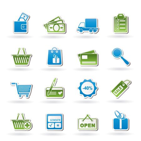 Shopping and website icons - icon set Vector