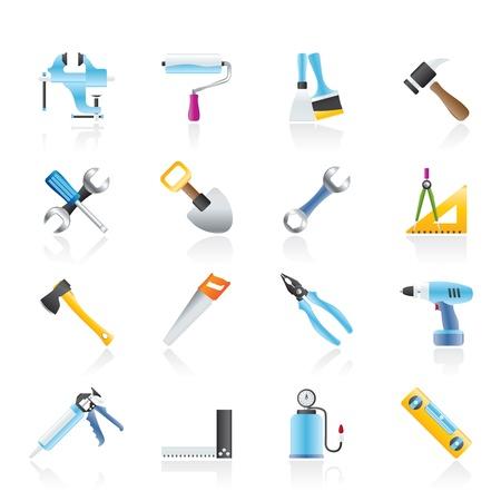 Icônes du bâtiment et la construction d'outils de travail - jeu d'icônes