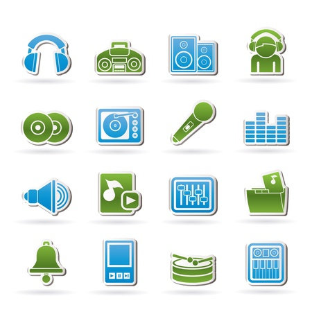 Music and sound Icons - Icon Set Vector