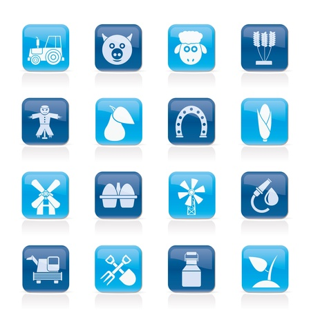 Agriculture and farming icons - icon set Stock Vector - 12201619