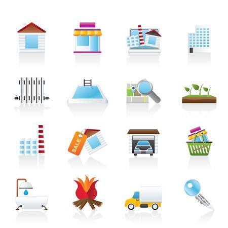 radiador: Inmobiliario y construcción iconos - Icon Set