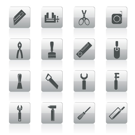 implement: Building and Construction Tools icons - Vector Icon Set
