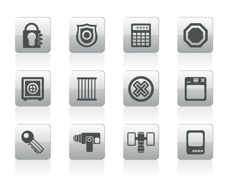Security and Business icons - vector icon set Stock Vector - 12481028